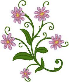 Machine Embroidery Design: Daisy Corner #2