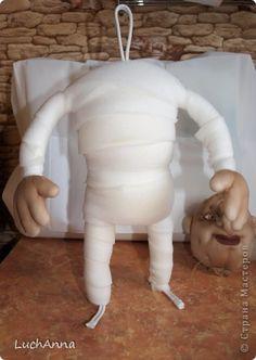 Куклы Мастер-класс Шитьё Кукольный каркас и тело мини МК Капрон Поролон Проволока фото 12