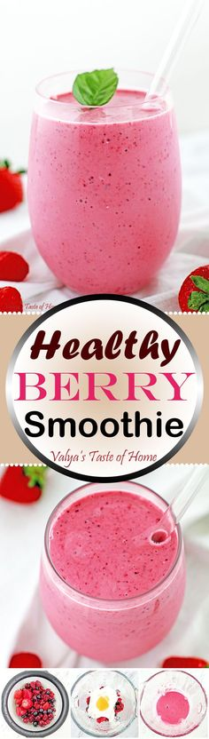 This Healthy Berry Smoothie Recipe is not only very delicious and satisfying, but it packs quite an energy punch and keeps you full for a while. It's packed with up to 25g of protein, plus fiber, antioxidants and vitamins.