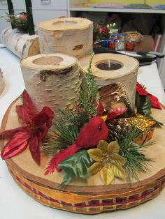 birch log candle holder  http://tuttlewoodproducts.blogspot.ca/