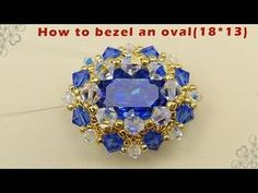 How to bezel an mm oval tutorial Bead Crochet Patterns, Beaded Jewelry Patterns, Beading Patterns, Bracelet Patterns, Jewelry Making Tutorials, Jewelry Making Beads, Beading Tutorials, Baubles And Beads, Beads And Wire