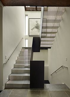 12 gauge perforated stainless steel treads and risers - DeForest Architects