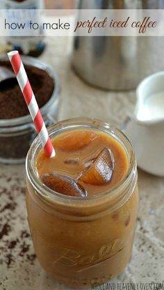 You won't believe how easy it is to make your own iced coffee! Skip the drive-thru this morning and take 5 minutes to whip up this sweet energy boost. @WholeHeavenly