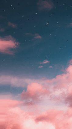 Hình nền động bầu trời trăng sao màu hồng đẹp tuyệt trần