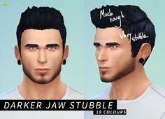 Medium Beard + Darker Jaw Stubble at LumiaLover Sims