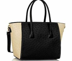 TrendStar Womens HandBags Designer Celebrity Style Faux Leather Shoulder Ostrich Tote Bags Beautiful Faux Leather Bags Go Gracefully From Work To Dinner. The Bags Have A Stunning Metal Work And Graceful Look With A Beautiful Cross-Body Strap, Which Adjusts For (Barcode EAN = 5055925299553) http://www.comparestoreprices.co.uk/designer-handbags/trendstar-womens-handbags-designer-celebrity-style-faux-leather-shoulder-ostrich-tote-bags.asp