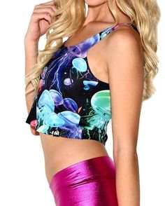 Jellies All Over Print Rave Crop Top