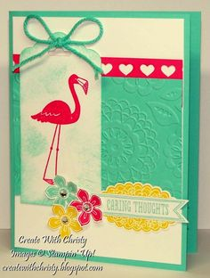 Stampin' Up! Flamingo Lingo - Christy Fulk, Stampin' Up! Demo - Create With Christy