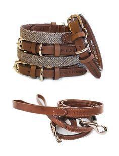 Luxury+Herringbone+Tweed+Dog+Collar+And+Leather+Lead+Set, £103.00