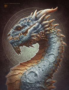 Moon Dragon, Kerem Beyit on ArtStation at http://www.artstation.com/artwork/moon-dragon