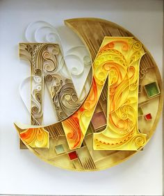 """Quilled """"M""""oon"""