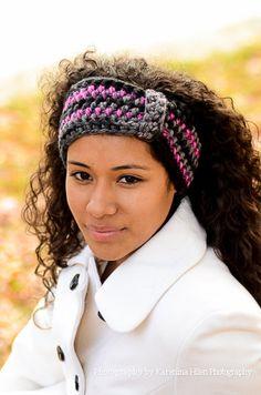 Handmade headband or head-warmer Keep warm in style this winter with this soft handmade crochet headband or ear warmer... .    Makes a great