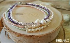 Handmade anklets with freshwater pearls by UNIQ|JWLZ. www.facebook.com /uniq-jwlz