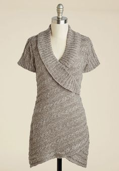 The Layer the Land Sweater in Mushroom - Brown, Solid, Work, Sleeveless, Fall, Knit, Better, Exclusives, Variation, V Neck, Mid-length