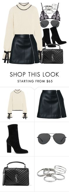 """""""Sem título #1345"""" by oh-its-anna ❤ liked on Polyvore featuring J.W. Anderson, Guild Prime, Alexander Wang, Michael Kors, Yves Saint Laurent and Kendra Scott"""