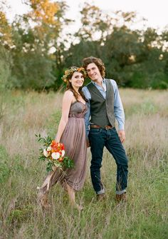 Beautiful, flowy grecian dress (recognize this from Free People) and sharp, casual but stylish guy. Nice subtle colors.