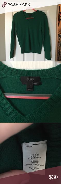 EUC JCrew Cardigan with Cashmere Excellent Used Condition JCrew sweater, that has hung lonely in my closet the last year. Spring cleaning and hoping to get someone a new piece for their wardrobe! Size small sweater, no flaws. J. Crew Sweaters V-Necks