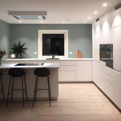 @kaadagard Interior Styling, Interior Decorating, Sage Green Walls, New Kitchen, Furniture Decor, Sweet Home, House Design, New Homes, Living Room