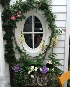 Springtime window box vignette byMarena Padden