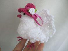 Crochet Birds, Crochet Doilies, Crochet Yarn, Crochet Toys, Crochet Animal Patterns, Stuffed Animal Patterns, Amigurumi Patterns, Knitting Patterns, Single Crochet Stitch