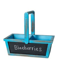 Loving this Blue Wood Chalkboard Basket on #zulily! #zulilyfinds