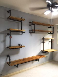 Industrial Tiered Shelves