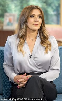 The star stopped off at the ITV studios in London on Monday, where she revealed that she drew inspiration from her personal experience for her creepy new storyline. Beautiful Female Celebrities, Beautiful Ladies, Coronation Street Cast, Alison King, Kym Marsh, Sexy Blouse, British Actresses, Michelle Connor, Sexy Women