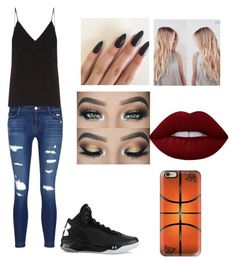 """Untitled #187"" by brylei10 ❤ liked on Polyvore featuring beauty, J Brand, Raey, Under Armour, Lime Crime and Casetify"