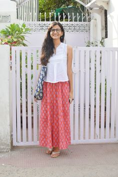 """Street Style Delhi: Tarishi """"Short hair is meant for men""""∼ Continue Reading ∼ Indian Attire, Indian Wear, Casual Indian Fashion, Frock For Women, Trendy Summer Outfits, Indian Designer Outfits, Everyday Outfits, Cotton Dresses, Street Style"""