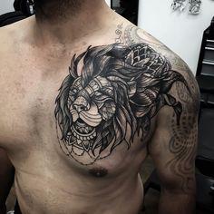 Ishi Neve Lion Tattoo