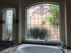 Custom master bath window by Art Glass By Wells. http://www.artglassbywells.com/bath_windows