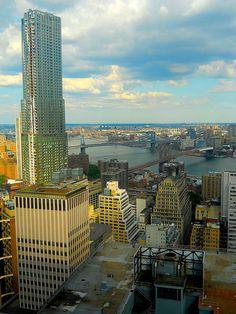 NYC. the bridges of lower Manhattan