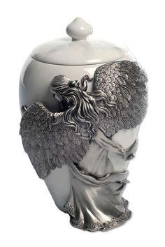 Angel Embrace Urn Pewter - Memorial Urns