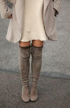Avec quoi porter des cuissardes ? #stuartweitzman | Caroline Receveur                                                                                                                                                                                 Plus