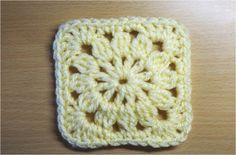 四角モチーフ4 かぎ編みの基本 How to Crochet Square Motif