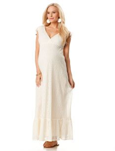 Ella Moss Sleeveless Crochet Detail Maternity Maxi Dress...