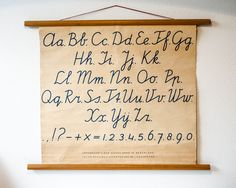 Komedal Road — Alphabet Chart