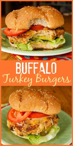 If you love Buffalo wings, you'll enjoy the flavor of these easy Buffalo Turkey Burgers with hot sauce and blue cheese cooked right in! #turkeyburger #burgers #buffalowings #turkey #sandwich