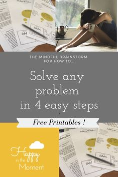 Go from mildly happy to wildly happy with these mindfulness based tools. Challenge and change unhelpful habits and behaviours, improve your emotional resilience and wellbeing and learn strategies to help you cope with all of your current problems Mindfulness Meditation, Emotional Resilience, How To Move Forward, Behavior, Free Printables, Improve Yourself, Stress, Challenges