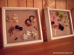 Plastic canvas earring holders! Plastic canvas earring holders! Plastic canvas earring holders!