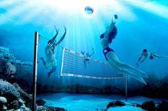 Volleyball - aqua- water-  voleibol.