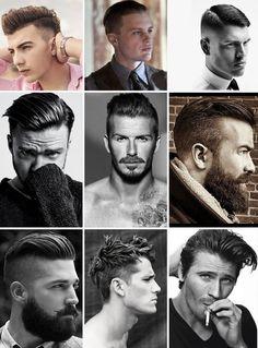 Moderno e impactante! Penteado masculino com alto brilho.