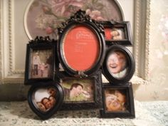 Shabby Ornate 7 Multi Photo Picture Frame Wall~Table Top Vintage Style~French  #FrenchCountry