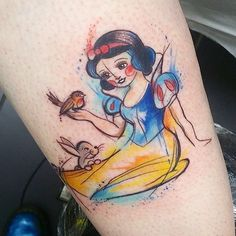 Little Snow White from today :3 #watercolours #watercolourtattoo #watercolour #sketchytattoo #sketch #snowwhitetattoo #snowwhite #disneytattoo #disney #disneytatts #middlesbrough #tattoo