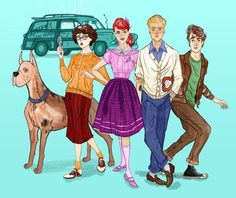 Fifties Scooby Gang