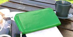 Zielony Damski portfel skórzany