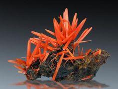 Crocoite - Adelaide Mine, Dundas, Tasmania, Australia Size: 3.0 x 2.0 x 2.0 cm
