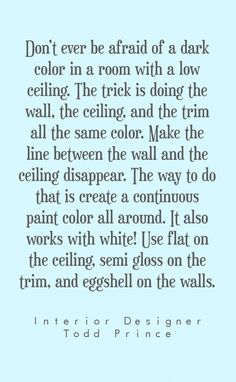 Designer tips on designing rooms with low ceilings // www.alwayssummerblog.com