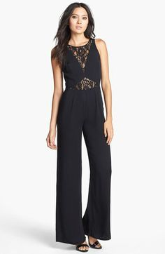 Like Mynded Lace Inset Jumpsuit available at #Nordstrom