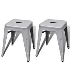 2x Metall Hocker Stapelhocker Stuhl Stühle Sitzhocker Gästehocker stapelbar #Ssparen25.com , sparen25.de , sparen25.info